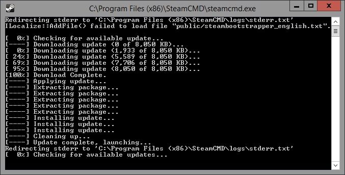 SteamCMD Update