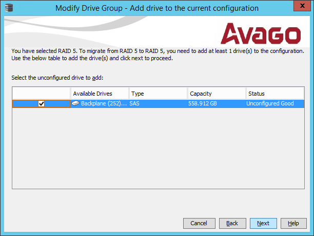 Modify Drive Group