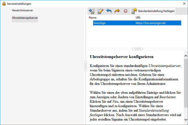 Adobe Reader Servereinstellungen