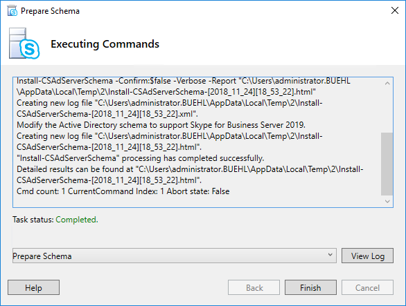 Skype for Business Schema